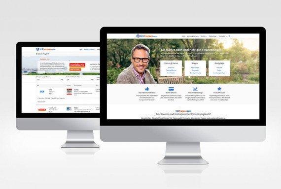 123finanzen - Startseite und Vergleichsportal