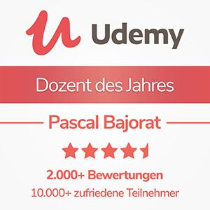 Udemy - Dozent des Jahres
