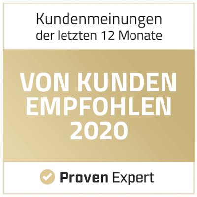Von Kunden empfohlen - Proven Expert 2020